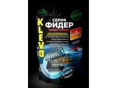 Прикормка Klevo Серия Фидер мелкого помола 900гр. в пакете Doy-pack с замком zip-lock